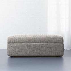movie salt and pepper storage ottoman & Modern Ottomans and Accent Stools | CB2