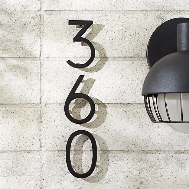 "Aurele 4"" Matte Black House Numbers - Image 1 of 12"