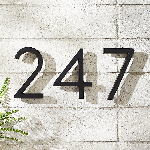 "Aurele 6"" Matte Black House Numbers - Image 1 of 12"
