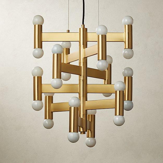 Munroe Brass Pendant Light - Image 1 of 7