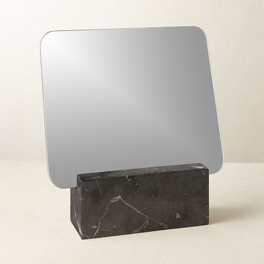 Muse Black Marble Vanity Mirror