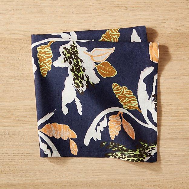 Cb2 Free Shipping >> Blue Floral Napkin Reviews Cb2