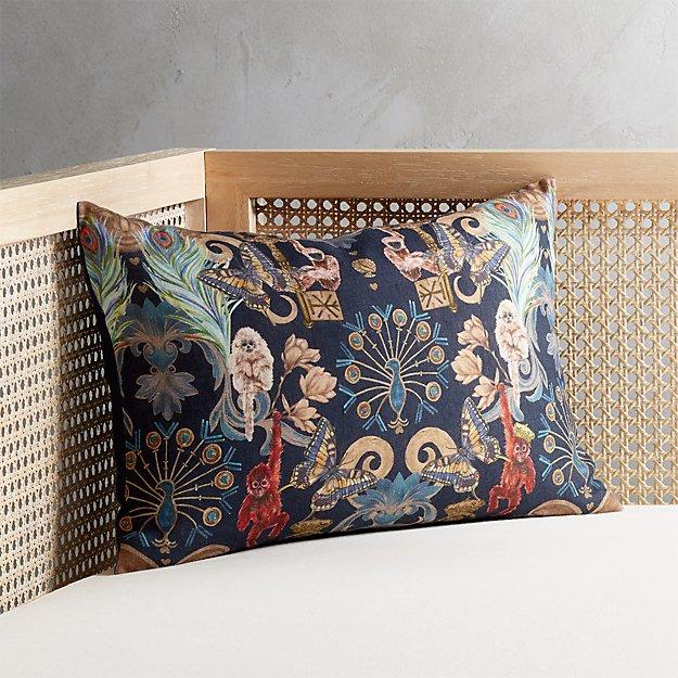 "18""x12"" Regal Monkeys Pillow - Image 1 of 8"