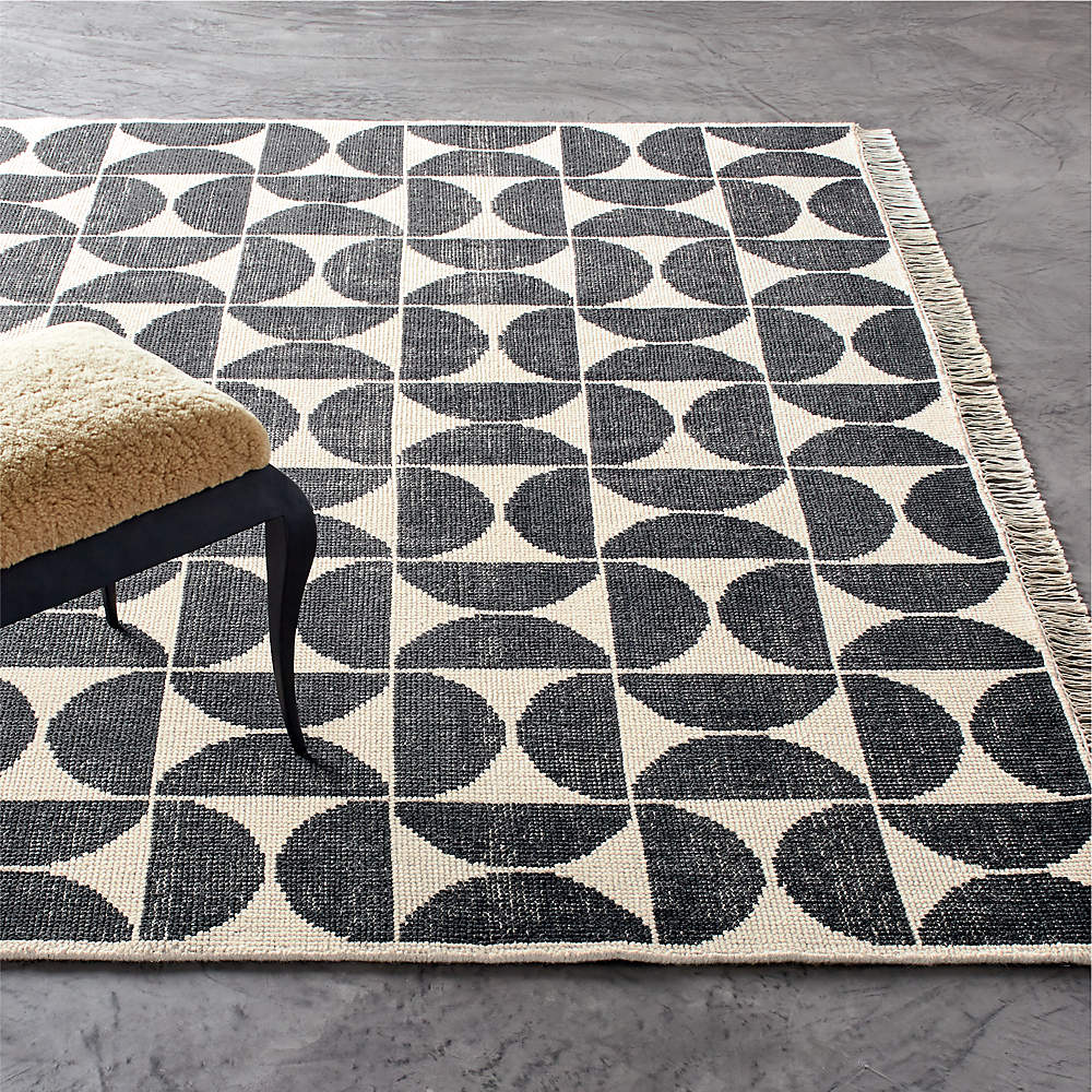 Myra Charcoal Ivory Hand Knotted Rug 6, Round Outdoor Rugs Target Australia