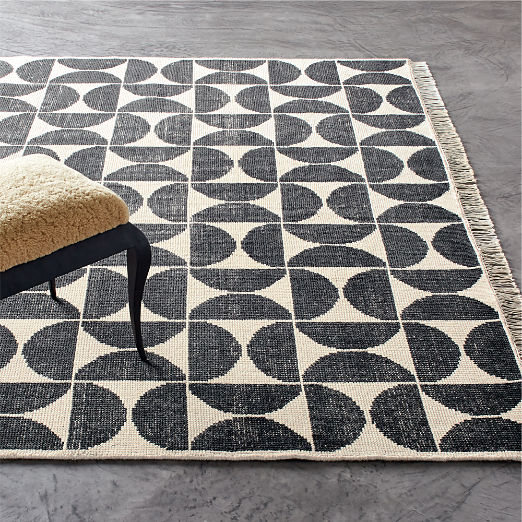 Myra Charcoal/White Hand-knotted Rug