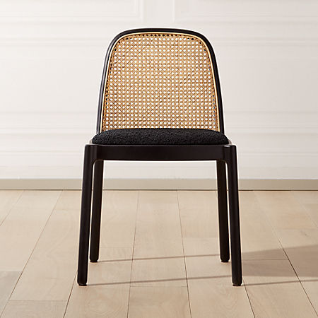 Nadia Black Cane Chair Reviews Cb2