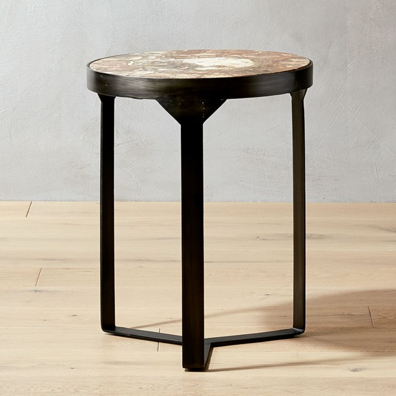 Attractive Nadu Brown Agate Side Table