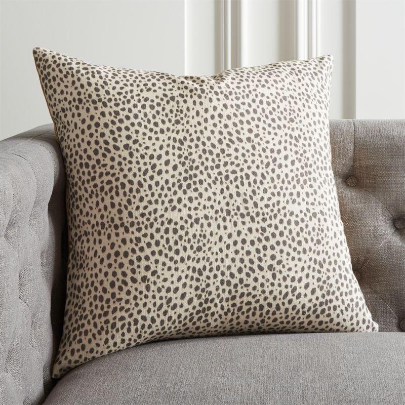 20 Nahla Cheetah Pillow With Down Alternative Insert Reviews Cb2