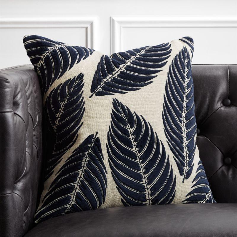 Blue Throw Pillows Cb2