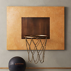 Natural Vellum Leather Basketball Hoop