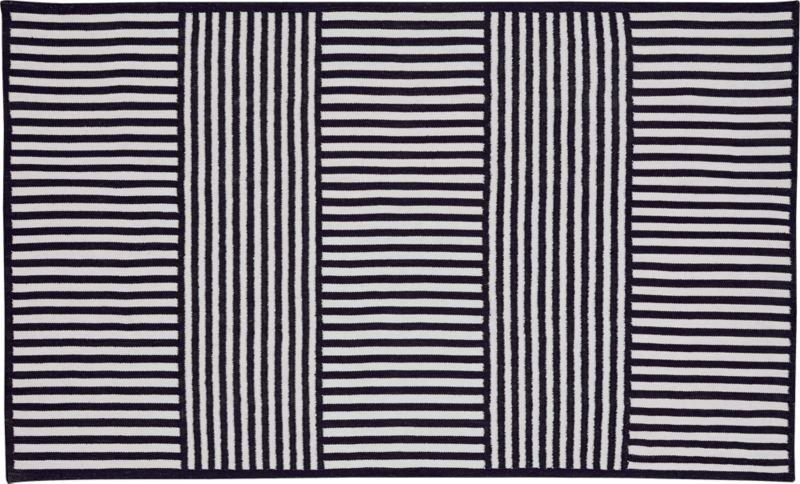 navy outdoor rug. Navy Stripe Outdoor Rug 5x8 O