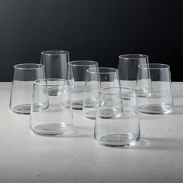 Neat Double Old-Fashioned Glass Set of 8 - Image 1 of 6