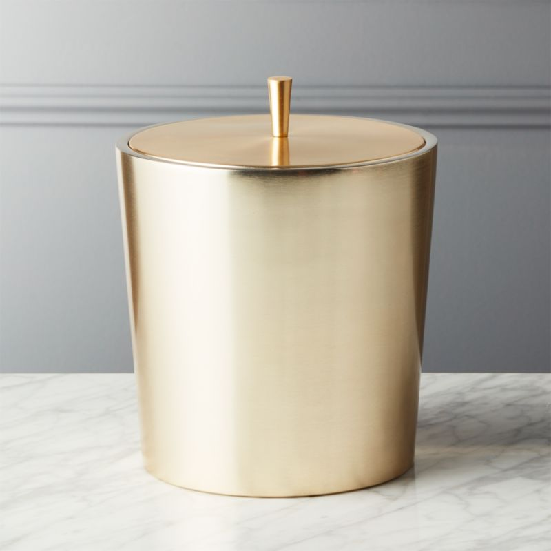 Neil Champagne Gold Ice Bucket Reviews Cb2