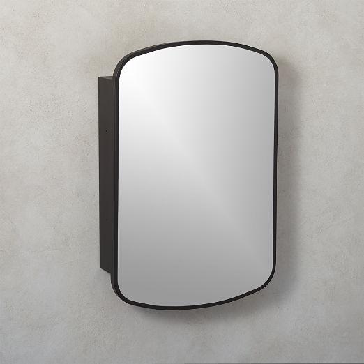 medicine cabinets cb2 rh cb2 com  black recessed medicine cabinet with mirror