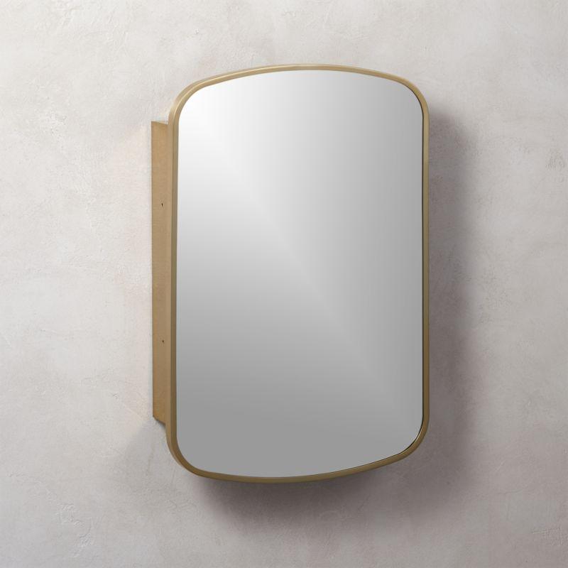 Nel Brass Medicine Cabinet Reviews Cb2, Rose Gold Bathroom Mirror Cabinet