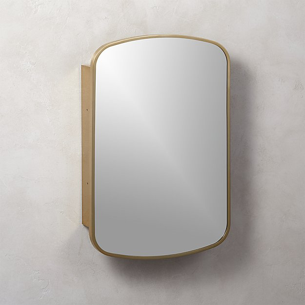 Safety Mirrors For Bathrooms: Nel Brass Medicine Cabinet + Reviews