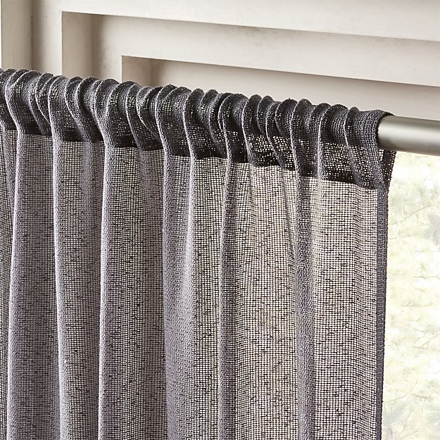 Grey Net Curtain Panel 48x96 Reviews Cb2