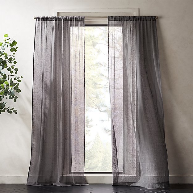 Grey Net Curtain Panel - Image 1 of 5