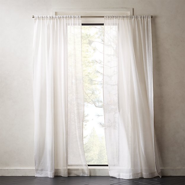 White Net Curtain Panel - Image 1 of 4
