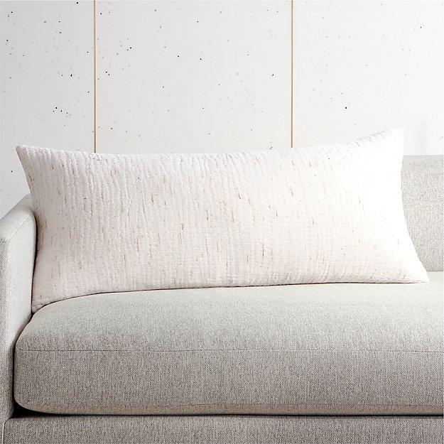 """36""""x16"""" Nett Ivory Pillow - Image 1 of 3"""