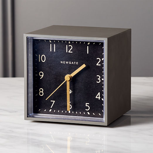 Newgate ® Grey and Black Cubic Alarm Table Clock