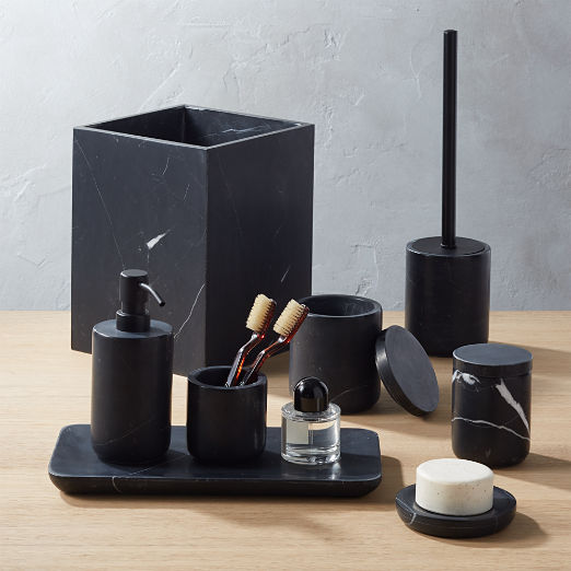 Nexus Black Marble Bath Accessories
