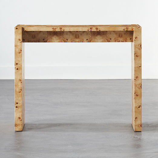 Niche Burl Wood Console Table
