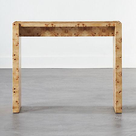 Niche Burl Wood Console Table