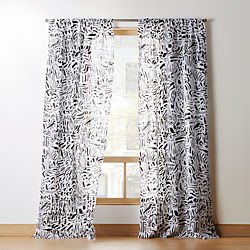 Nico Black And White Print Curtain Panel