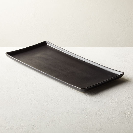 Nita Rectangular Black Serving Platter