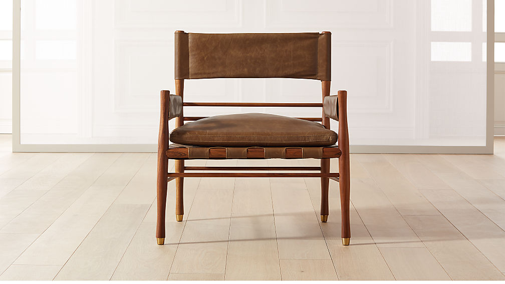 Nomad Leather Safari Chair - Image 1 of 8