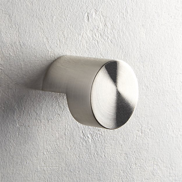 Notch Brushed Nickel Knob - Image 1 of 4