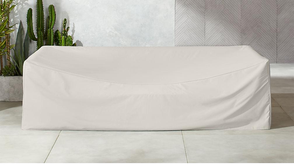 Novara Grey Waterproof Outdoor Sofa Cover Reviews Cb2