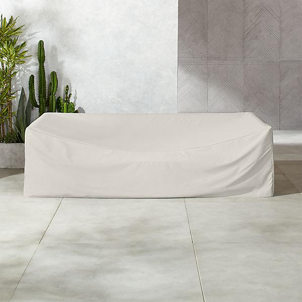 Novara Grey Waterproof Outdoor Sofa Cover + Reviews | CB2