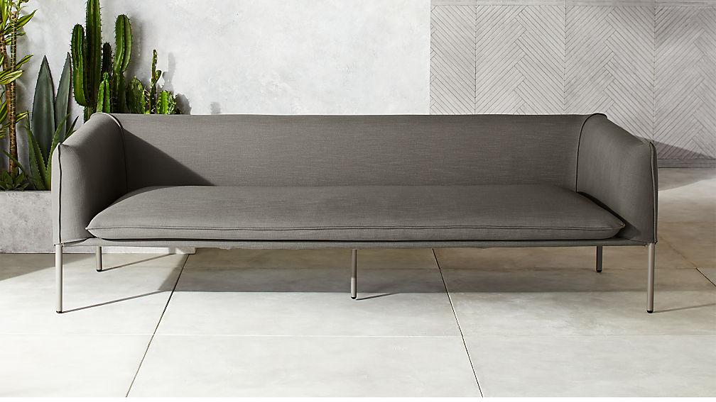 Novara Grey Outdoor Sofa Reviews Cb2