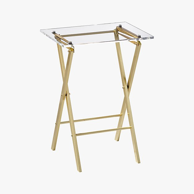 Novo Acrylic Folding Table + Reviews | CB2