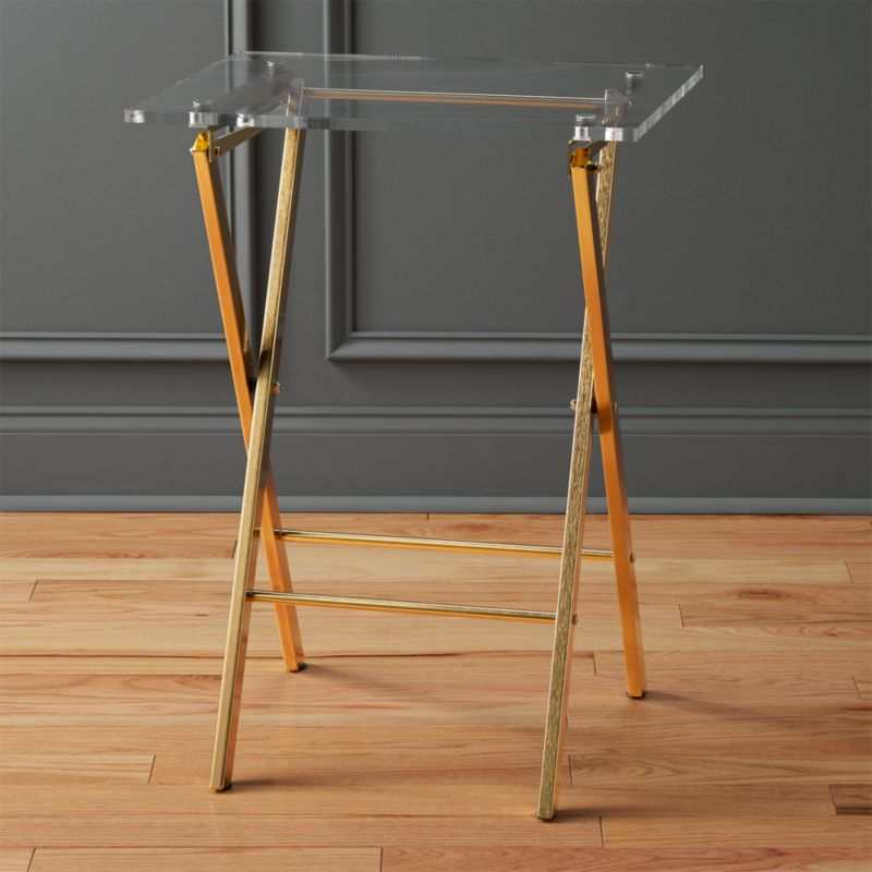 Novo Acrylic Folding Table Reviews Cb2