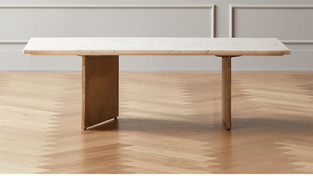 Oblique Marble Coffee Table - Image 1 of 9
