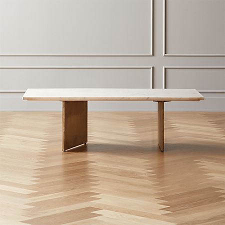Oblique Marble Coffee Table Reviews Cb2 Canada