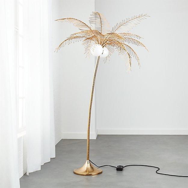 Ocean palm tree floor lamp reviews cb2 aloadofball Choice Image