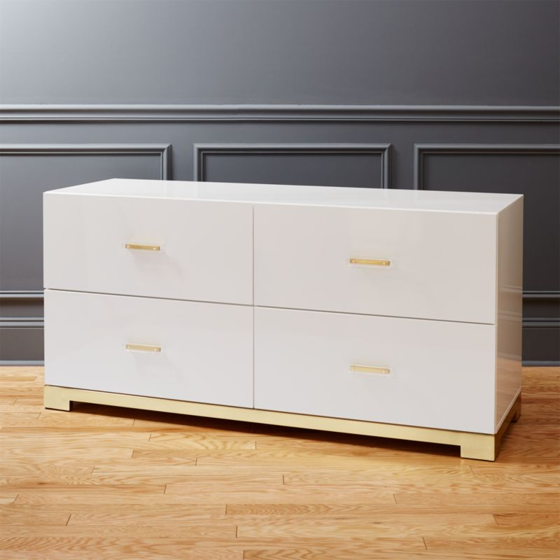 Odessa Low White Dresser + Reviews | CB2