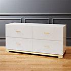 odessa low white gloss dresser