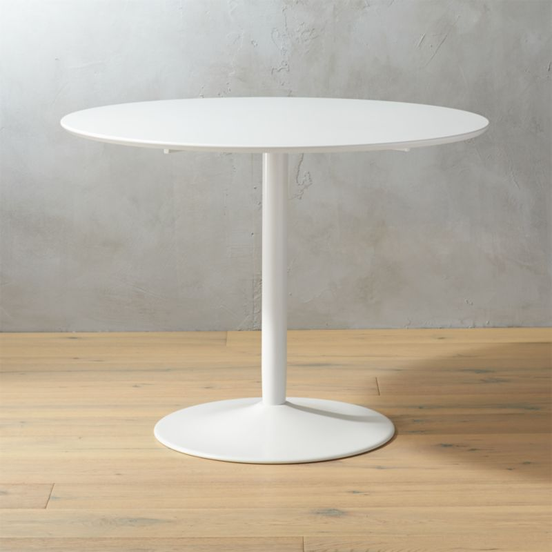 odyssey white tulip dining table reviews cb2 - Crate And Barrel End Tables