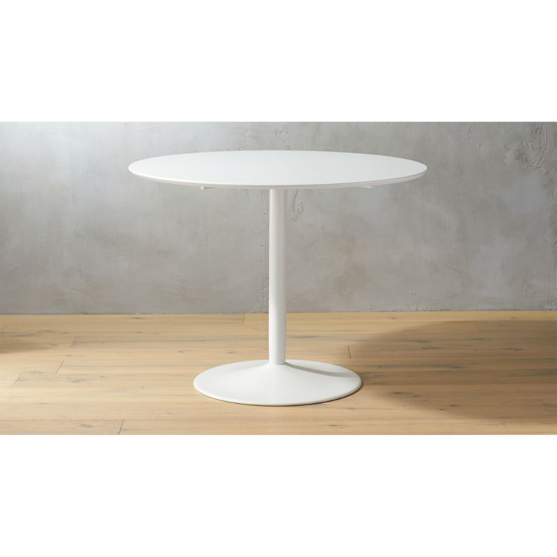 Odyssey White Dining Table CB - Cb2 tulip table