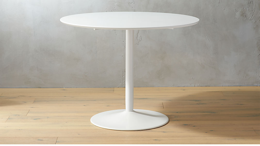f6ed8626ffdb91 Odyssey White Tulip Dining Table + Reviews | CB2