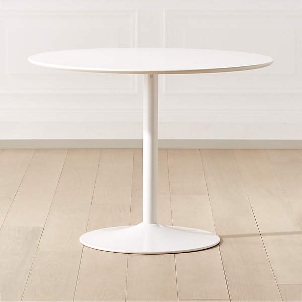 Odyssey White Dining Table Reviews Cb2, Round White Dining Tables