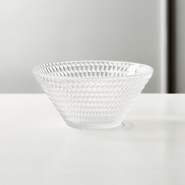 Offset Clear Glass Bowl - Image 1 of 3