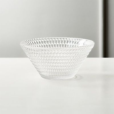 CB2 Offset Clear Glass Bowl