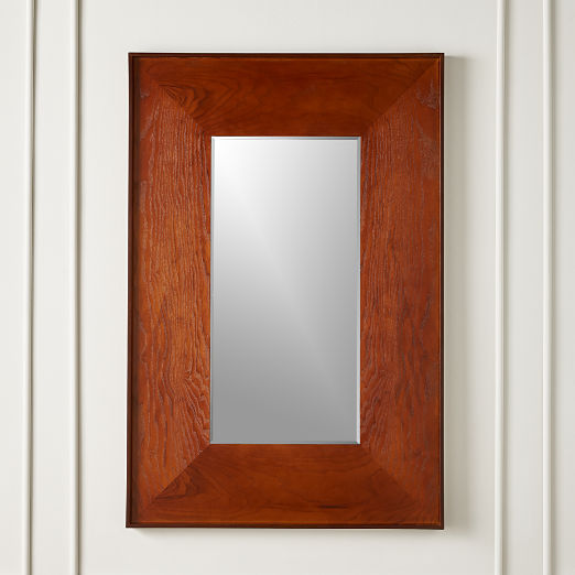 Rectangle Olive Wood Mirror