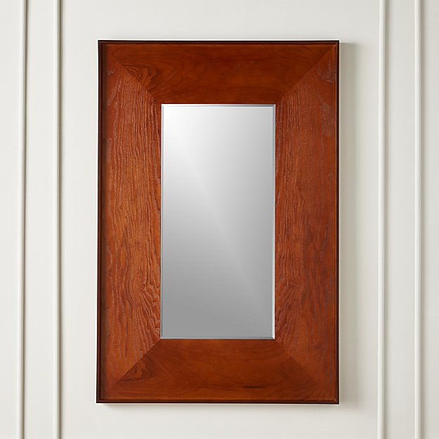Rectangle Olive Wood Mirror - Image 1 of 5
